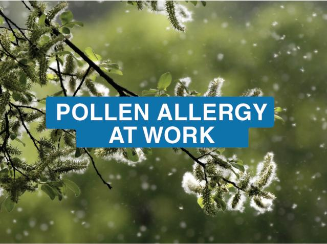 Pollen allergy at work